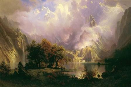 Rocky Mountain Landscape by Albert Bierstadt art print