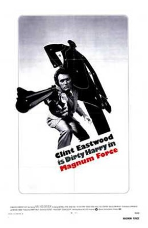 Magnum Force - black and white art print