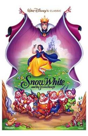 Snow White and the Seven Dwarfs Cast art print