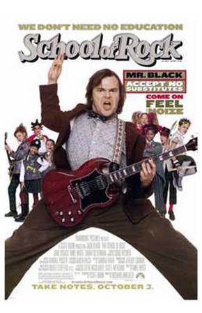The School of Rock art print