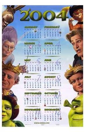 Shrek 2 Calendar 2004 art print