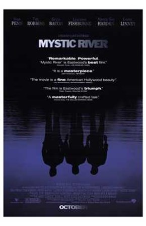 Mystic River - reflections art print
