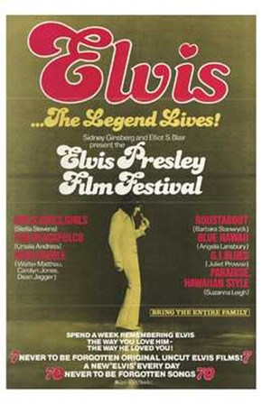 Elvis Presley Film Festival art print