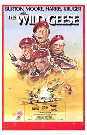 The Wild Geese (movie poster) art print