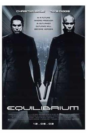 Equilibrium Black and White art print