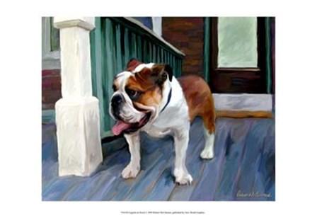 English on Porch by Robert McClintock art print