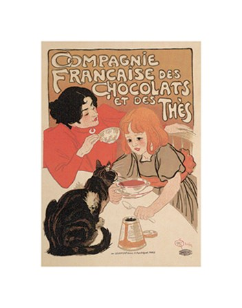 Compagnie Francaise des Chocolats by Theophile-Alexandre Steinlen art print