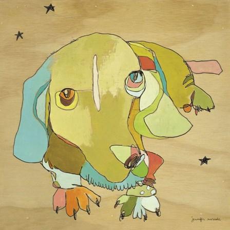Cooper Dog by Jennifer Mercede art print