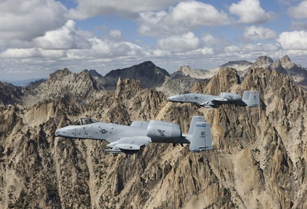 Two A-10 Thunderbolt's in Central Idaho by HIGH-G Productions/Stocktrek Images art print