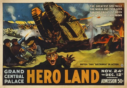 Hero Land, WWI Movie Poster by Print Collection art print