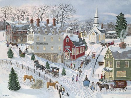 Oak Ridge in Winter by Bob Fair art print