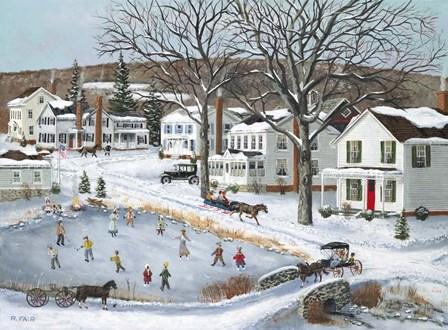 Our Town Long Ago by Bob Fair art print