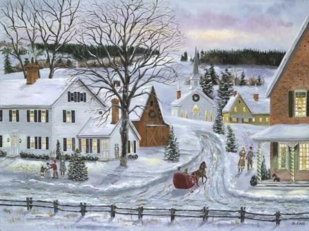 Peaceful Holiday by Bob Fair art print