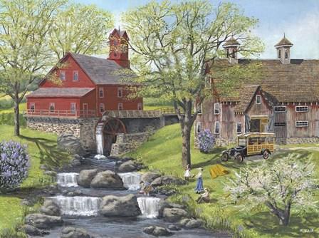 Picnic at the Mill by Bob Fair art print