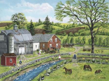 Stoney Brook Farm by Bob Fair art print