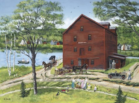 The Grist Mill (At West Stockbridge) by Bob Fair art print
