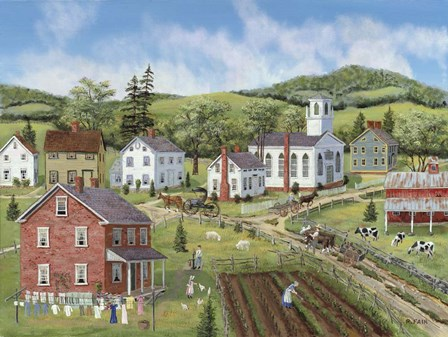 Village Center by Bob Fair art print