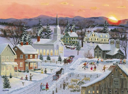 Winter Sunset by Bob Fair art print