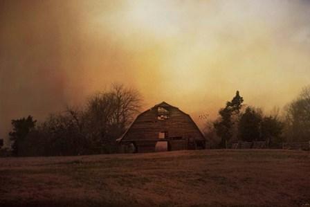 The Old Barn On A Fall Evening by Jai Johnson art print