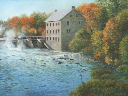 Old Mill Manotick Ontario by Kevin Dodds art print