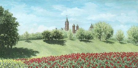 Parliament Building and Tulips - Ottawa by Kevin Dodds art print