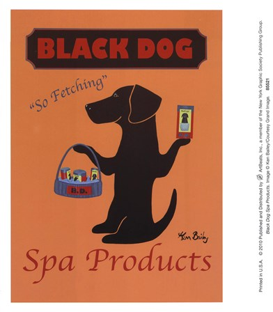 Black Dog Spa Products by Ken Bailey art print