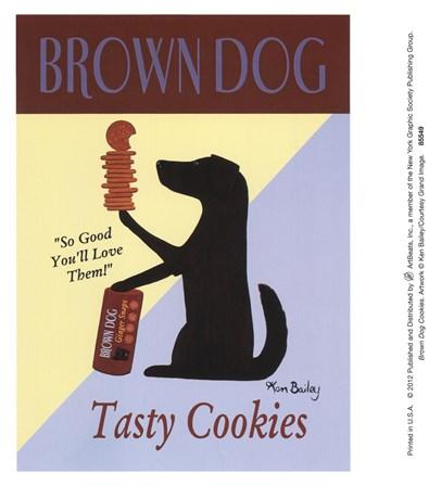 Brown Dog Cookies by Ken Bailey art print