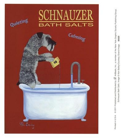 Schnauzer Bath Salts by Ken Bailey art print