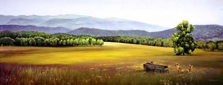 Summer Landscape Wagon by Spencer Williams art print