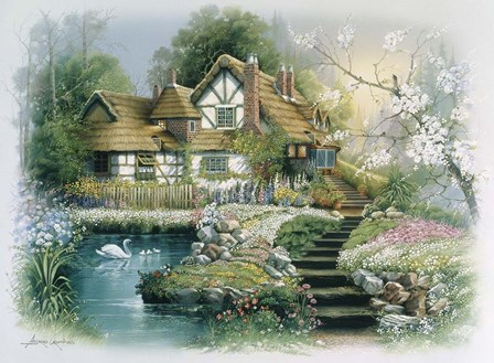 Cottage 1 by Andres Orpinas art print