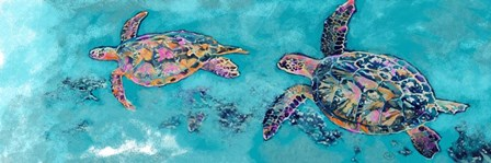Turtles Together by Sarah Butcher art print