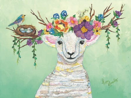 Spring Lamb by Lisa Morales art print