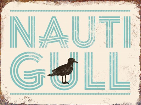 Nauti Gull by J.J. Brando art print