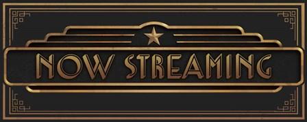 Now Streaming by J.J. Brando art print