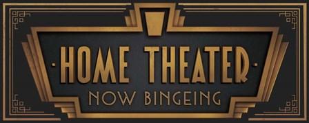 Home Theater by J.J. Brando art print