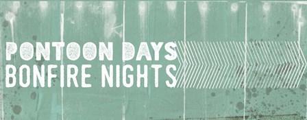 Pontoon Days, Bonfire Nights by Katie Doucette art print
