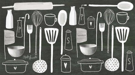 Kitchen Utensils by Katie Doucette art print