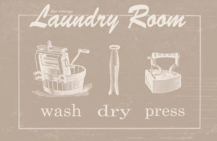 Vintage Laundry by Jo Moulton art print