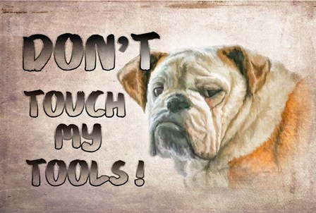 Don't Touch My Tools by Ramona Murdock art print