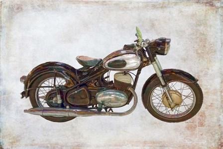 Ardie Motorcycle by Ramona Murdock art print