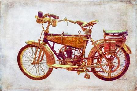 Vintage Motorcycle by Ramona Murdock art print