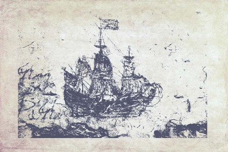Navy Frigate I by Ramona Murdock art print