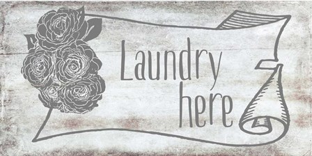 Laundry Here by Ramona Murdock art print