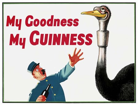 My Goodness My Guinness by Vintage Lavoie art print