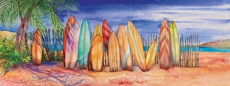 Surfboards by Kathleen Parr McKenna art print